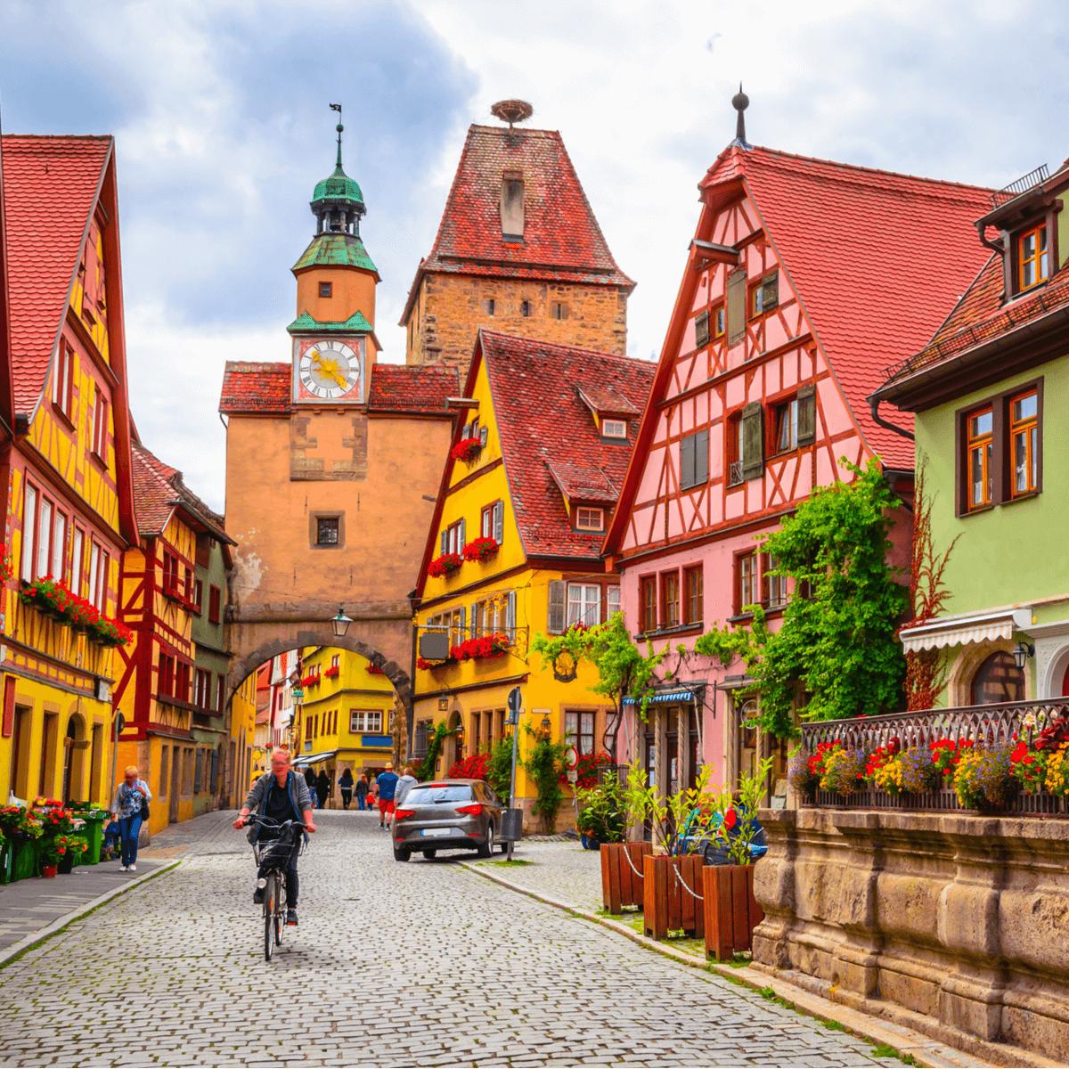 Rothenburg ob der Tauber and Regensburg